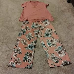 Two piece pant outfit
